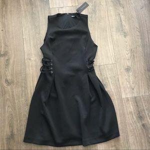 Dynamite Lace Up Flare Dress